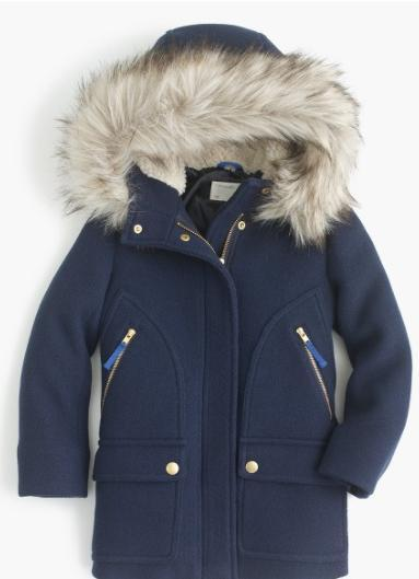 大人もOK!☆JCREW☆stadium-cloth chateau parkaファー付コート