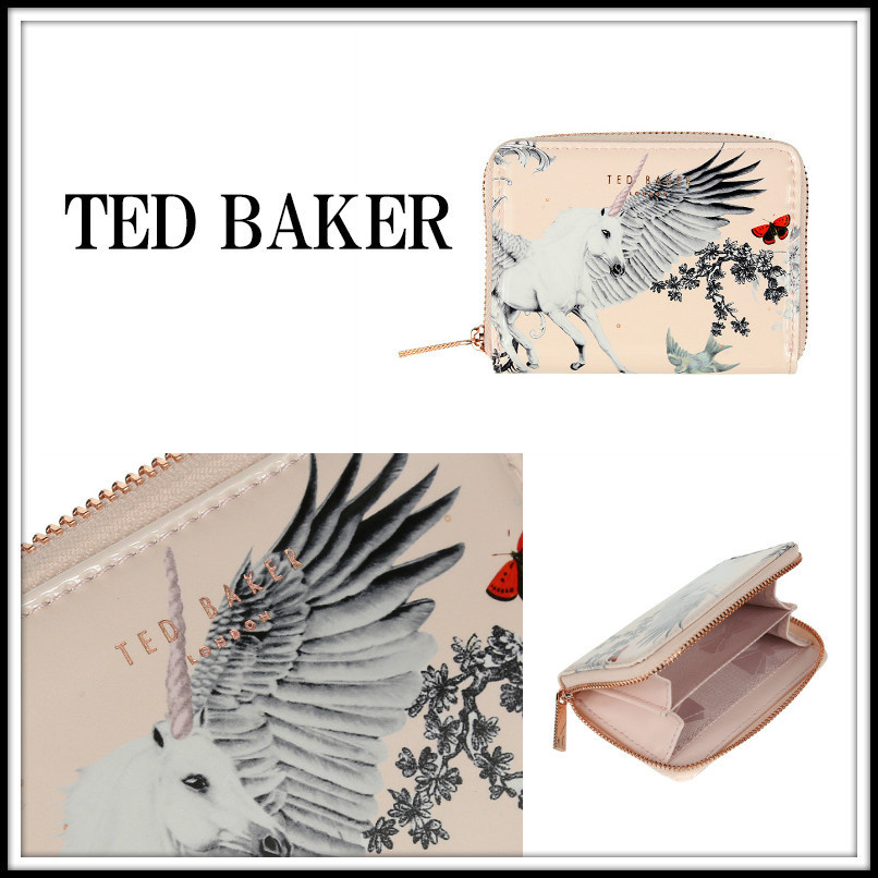 TED BAKER★ VINCENT ★ペガサス柄コインケース★ペールピンク