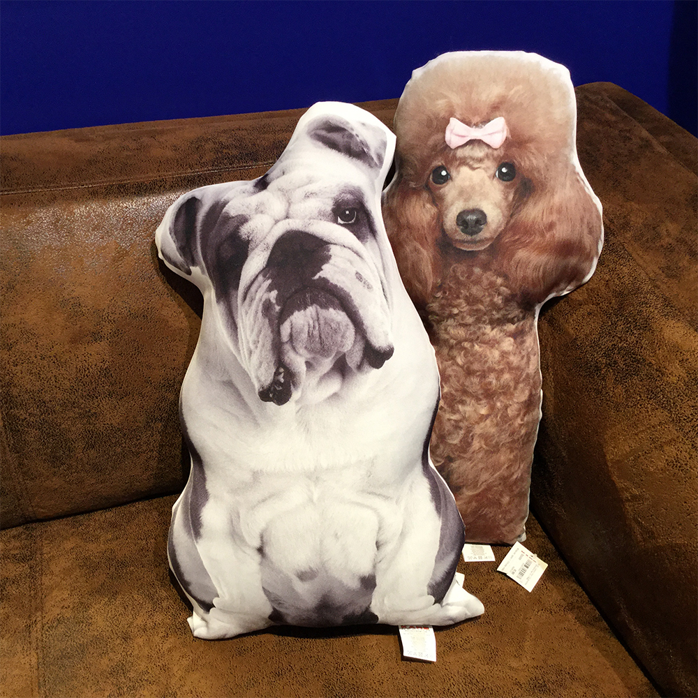 (クッション)Cushion Dogs Out A/BULLDOG