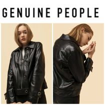 【GENUINE PEOPLE】●日本未入荷●Crop Faux Leather Jacket