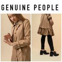 【GENUINE PEOPLE】●日本未入荷●Trench Coat with Ruffle Trim
