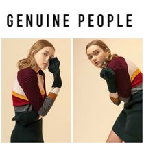 【GENUINE PEOPLE】●日本未入荷●Striped Knit Sweater Dress