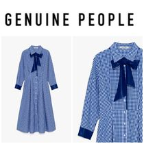 【GENUINE PEOPLE】●日本未入荷●Plaid Collared Maxi Dress