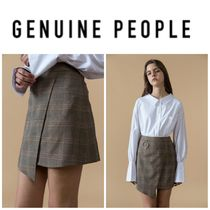 【GENUINE PEOPLE】●日本未入荷●Plaid Mini Skirt