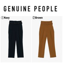 【GENUINE PEOPLE】●日本未入荷●High Waist Belted Pants