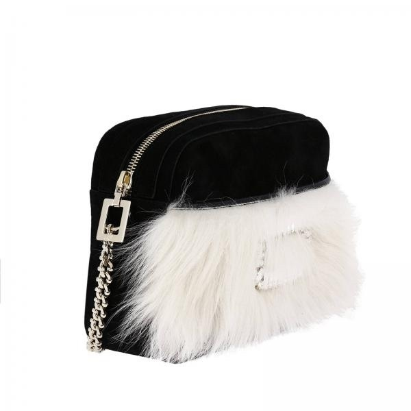 ☆ROGER VIVIER☆ロジェヴィヴィエ☆CRYSTAL&FUR CAMERA BAG