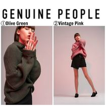 【GENUINE PEOPLE】●日本未入荷●Oversized Knit Sweater