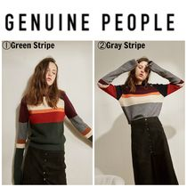 【GENUINE PEOPLE】●日本未入荷●Long-Sleeved Knit Sweater
