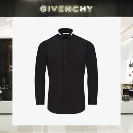 【18SS NEW】GIVENCHY_men /BANDS&EMBROIDERED STARSシャツBK