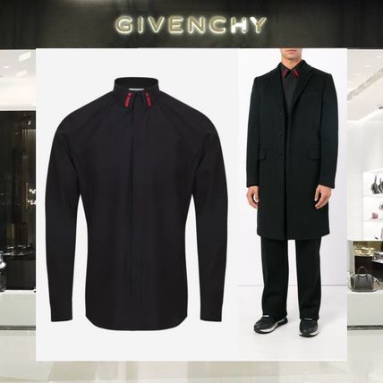 【18SS NEW】GIVENCHY_men /CONTRASTING EMBROIDEREDシャツBK