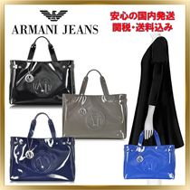 ARMANI JEANS(アルマーニジーンズ) トートバッグ ◇ ARMANI JEANS ◇ Large Faux Patent Tote 【関税送料込】