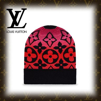 2017-18AW【LOUIS VUITTON】 ボネ・モノグラムサンセット 黒