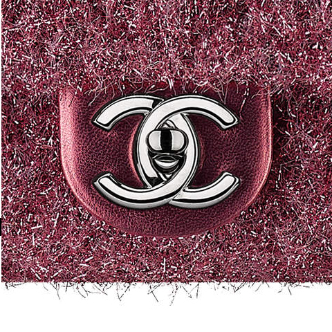 17AW☆CHANEL☆PLUTTO GLITTER・グリッターマト フラップバッグ