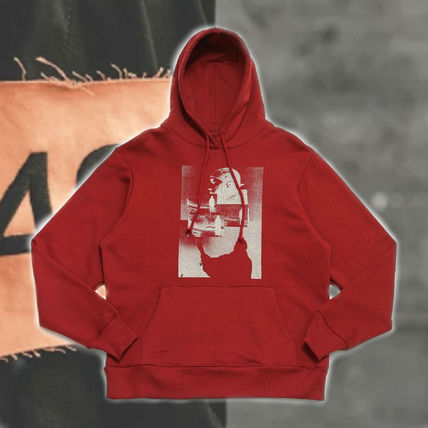 "*424*AW17 ""MVP"" HOODED SWEATSHIRT プリントフーディーBURGUNDY"