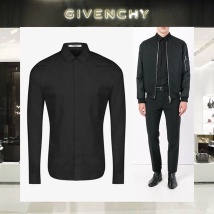 【18SS NEW】GIVENCHY_men /STARS EMBROIDEREDシャツBK