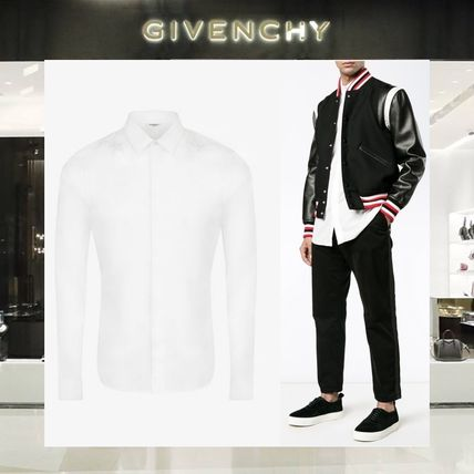 【18SS NEW】GIVENCHY_men /STARS EMBROIDEREDシャツWH