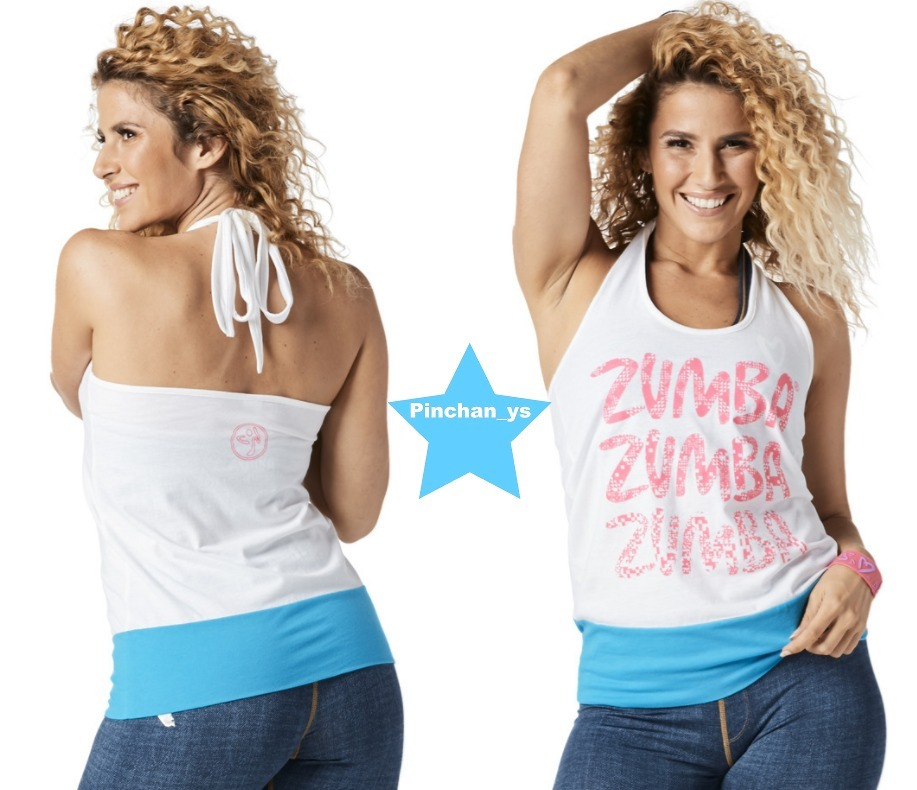H29.10月【ZUMBA】Throwback Tribe Halter Top(White)Z1T01427