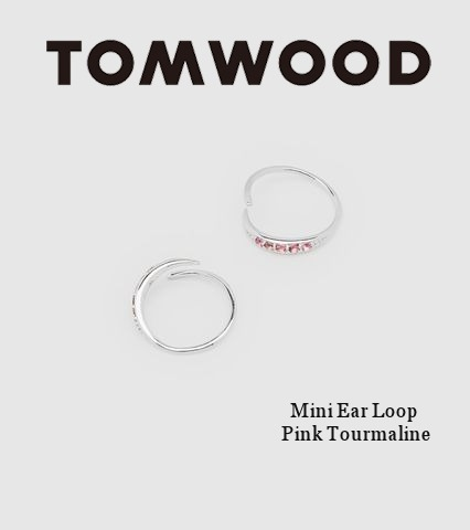 大人気★[Tom Wood] Mini Ear Loop Pink Tourmaline ピアス