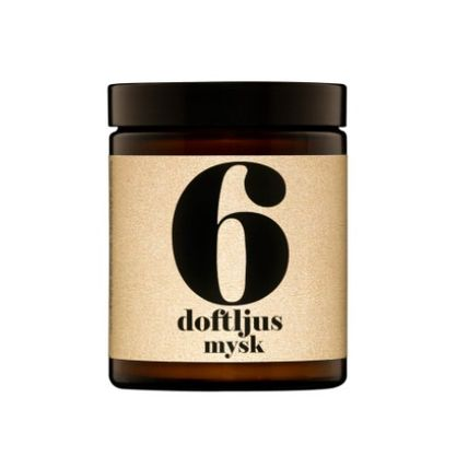 scented candle no. 6 - musk