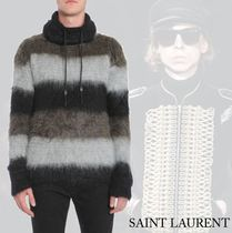 【Saint Laurent】FUNNEL NECK MOHAIR SWEATER