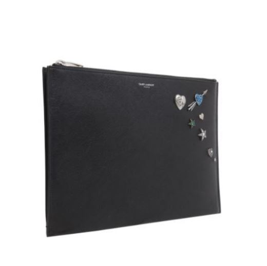 【Saint Laurent】LEATHER I-PAD CASE WITH PINS