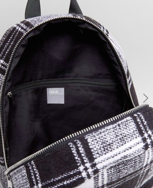 ☆送料込☆ASOS Monochrome Check Backpack レディース