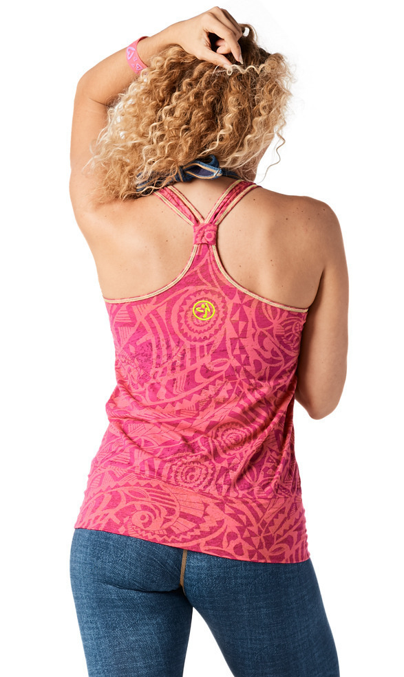 【送料関税込】ZUMBA☆Throwback Peace Love Bubble Tank