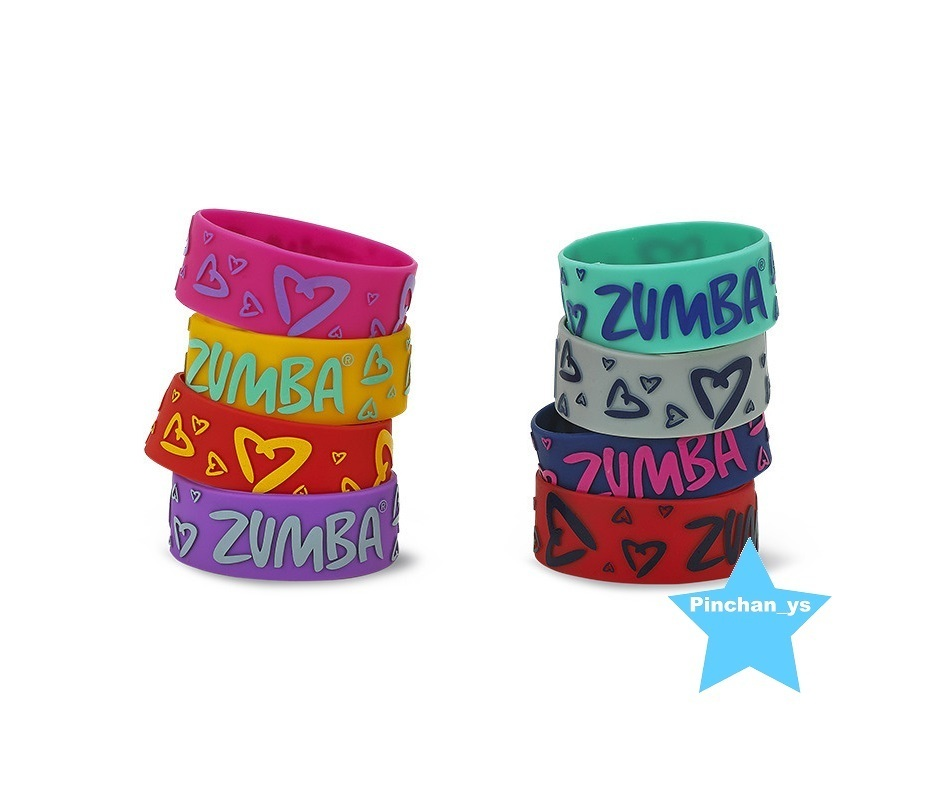 【ZUMBA】Throwback Zumba Heart Rubber Bracelets 8pk A0A00822