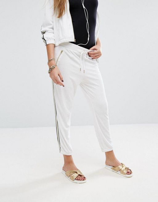 ☆Juicy Couture Black Label Microterry Pant With Racer Str☆