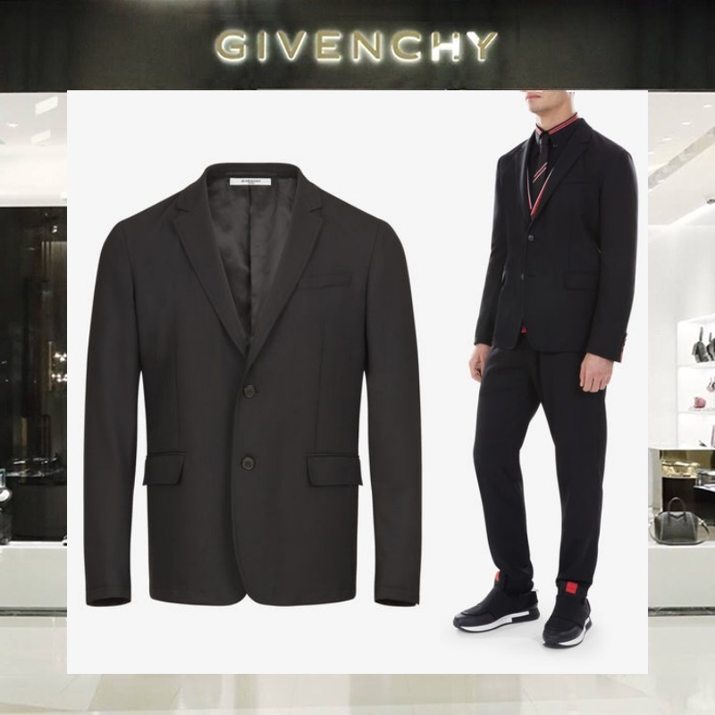 【18SS NEW】 GIVENCHY_men /CONTRASTED CUFFSスリムジャケット