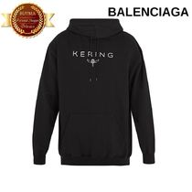 BALENCIAGA バレンシアガ Logo-print  hooded sweatshirt