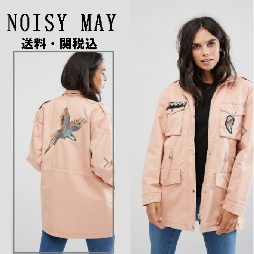 Noisy May Lexカーゴジャケットwith Patches