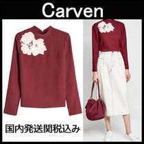 CARVEN♡花柄アップリケ 長袖トップス