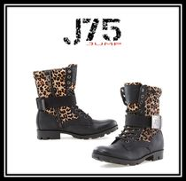 J75 by JUMP(ジェイ75バイジャンプ) ショートブーツ・ブーティ ★J75 By Jump★Strong Womens ★レースアップブーツ★チーター
