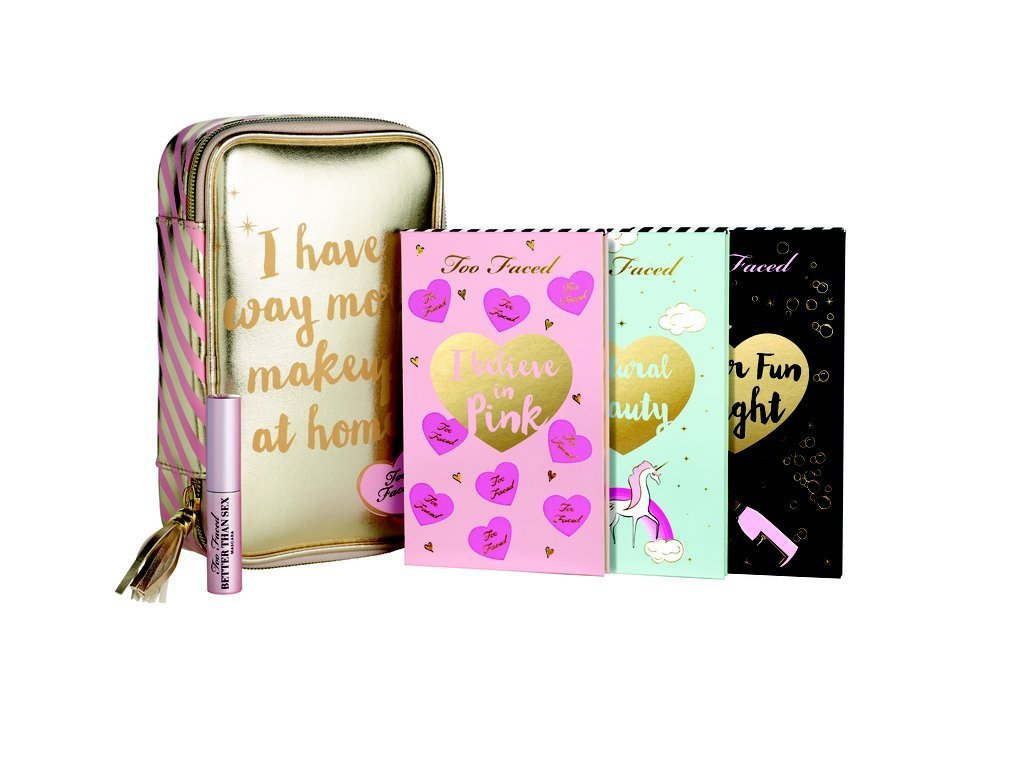 Too Faced 限定品メイクパレット3枚 ポーチ付き♥