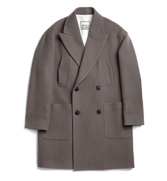☆HEICH BLADE☆ BLADE EMBROIDERY DOUBLE COAT(KHAKI)