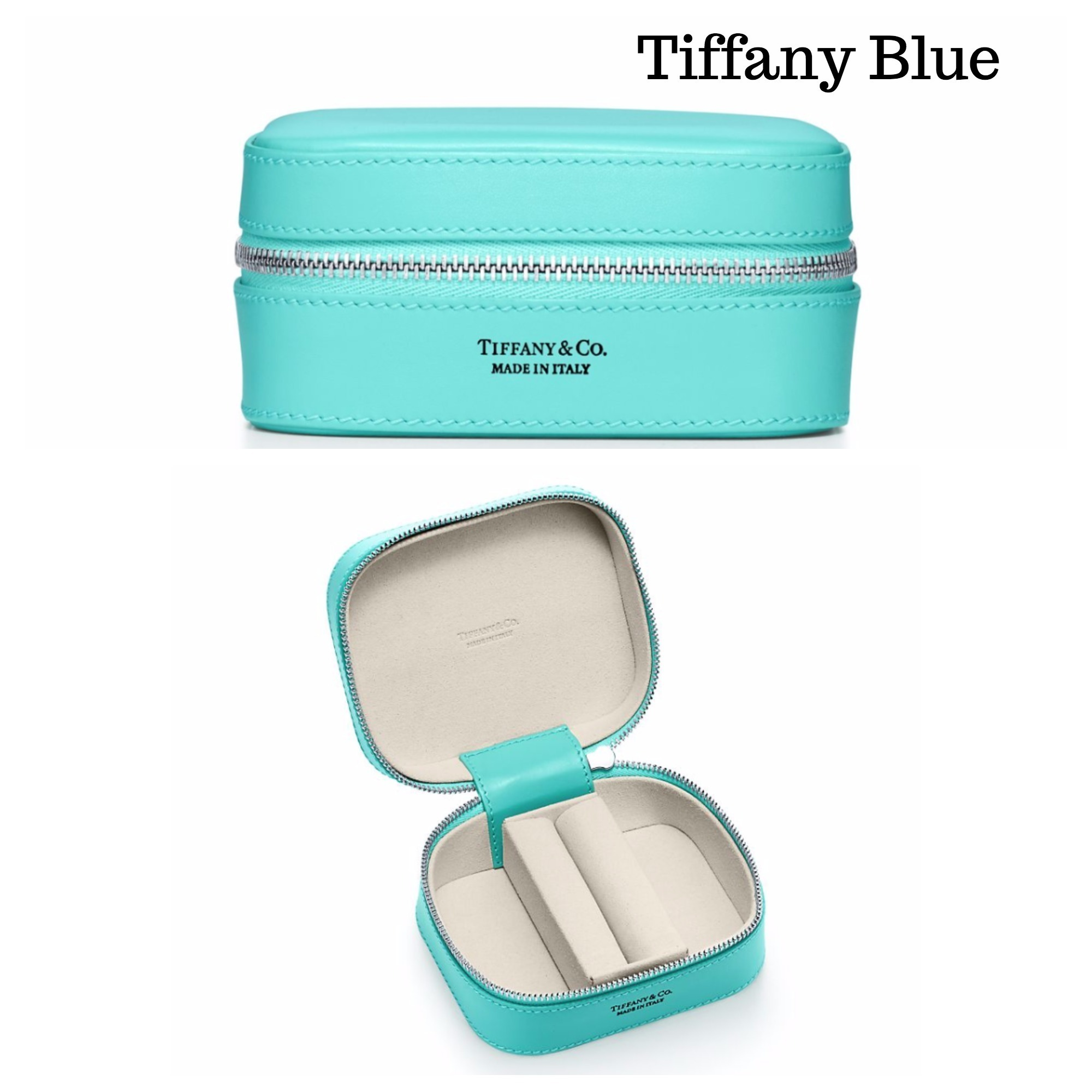 携帯に便利【Tiffany】Rectangular Jewelry Case♪ミディアム