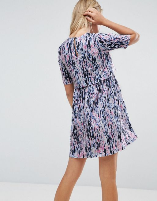 ☆ASOS Maternity NURSING Double Layer Dress In Blurred Ani☆
