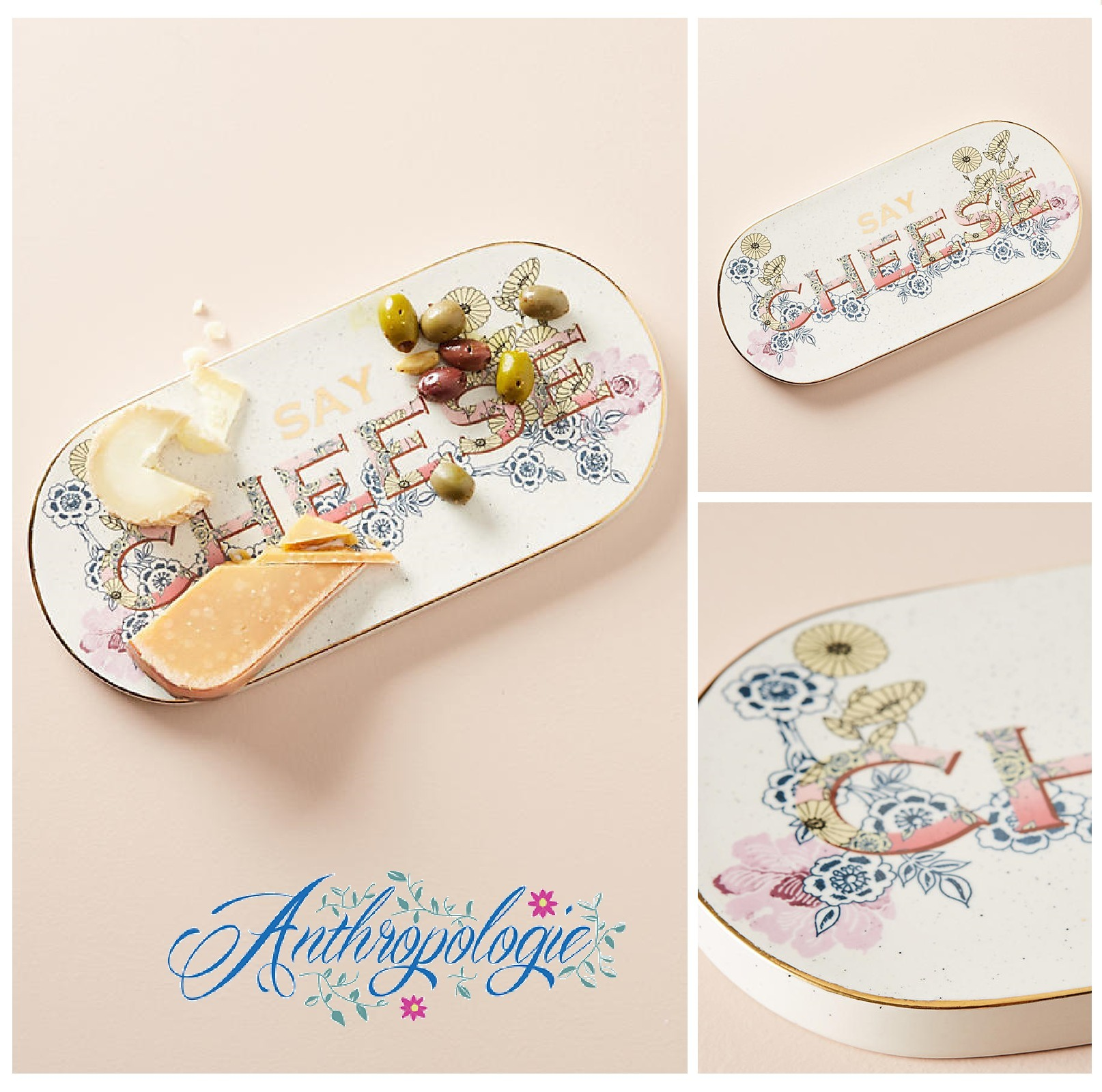 ☆ANTHROPOLOGIE☆Say Cheese Board