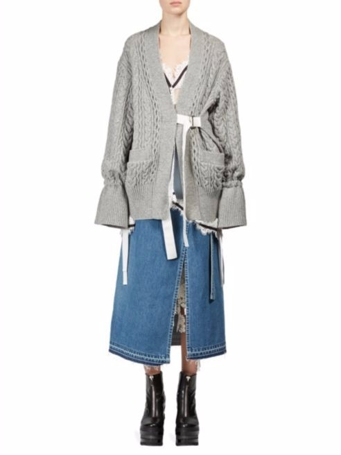 SACAI ★Wool Knit Cardigan オーバーサイズ