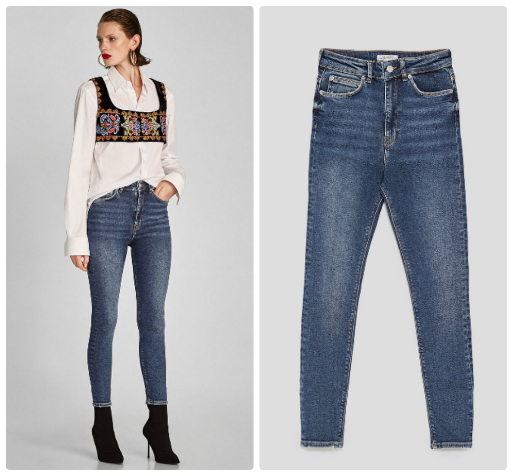 ZARA THE HIGH WAIST JEANS IN TRUE BLUE 9863/246