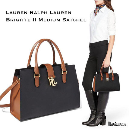 即発送【セール!】Ralph Lauren*Brigitte II Medium Satchel
