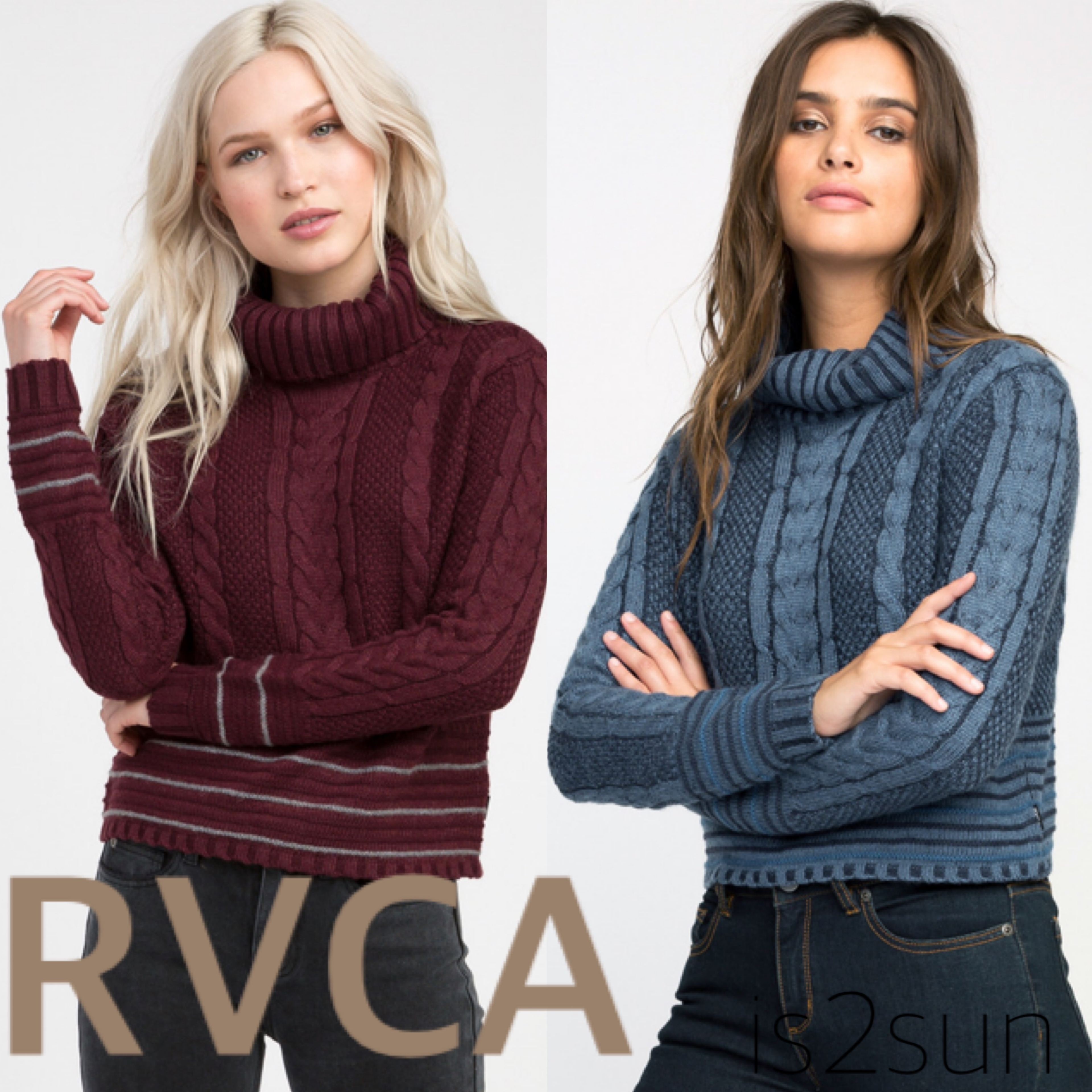 ☆2017-18AW☆人気急上昇! RVCA/MIX UP KNIT TURTLENECK SWEATER