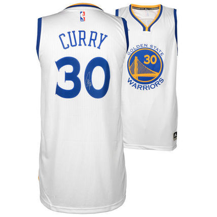 Adidas NBA Stephen Curry Autographed Golden State Jersey