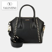 期間限定セール! Valentino Minimi Studded Leather Satchel