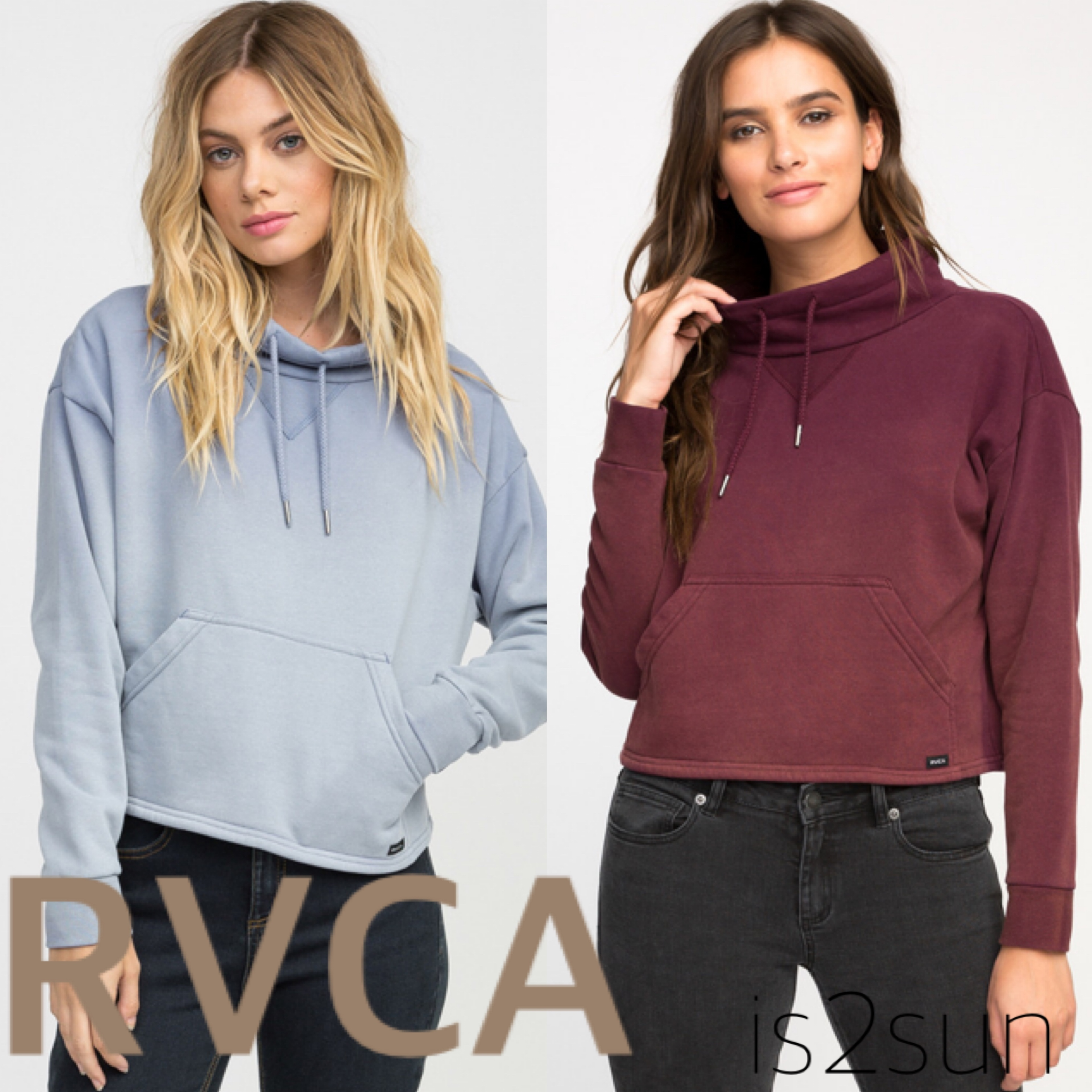 ☆2017-18AW秋冬☆人気急上昇! RVCA/SMUDGED CROPPED PULLOVER