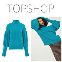 【TOPSHOP】●日本未入荷●Balloon Sleeve Roll Neck Jumper