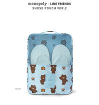 LINE FRIENDS(ラインフレンズ) トラベルポーチ 【LINE FRIENDS(ラインフレンズ)】 SHOES POUCH VER.2  4type