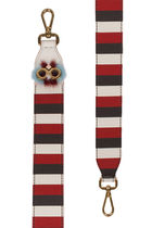 日本未発売 Shoulder strap you in red and multicolour leather