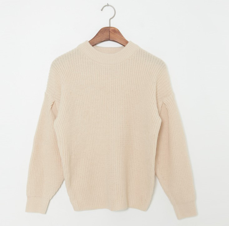 Corrugated Loose Pullover Sweater